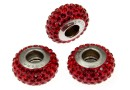 Swarovski, becharmed pave indian siam shining red, 13.5mm - x1