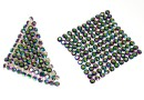 Swarovski Crystal mesh, scarabaeus, 3.2x3.2cm - x1