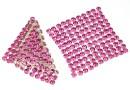 Swarovski Crystal mesh, rose, 3.2x3.2cm - x1