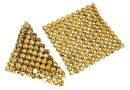 Swarovski Crystal mesh, metallic sunshine, 3.2x3.2cm - x1