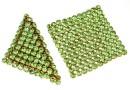 Swarovski Crystal mesh, peridot, 3.2x3.2cm - x1