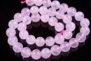 Pink quartz, round, 10mm - x10