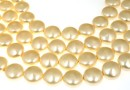 Perle Swarovski disc, light gold, 12mm - x4