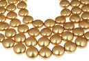 Perle Swarovski disc, bright gold, 10mm - x10