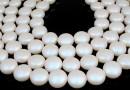 Perle Swarovski disc, pearlescent white pearl, 12mm - x4