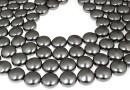 Perle Swarovski disc, dark grey pearl, 12mm - x4