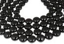 Perle Swarovski disc, mystic black pearl, 10mm - x10