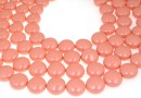 Perle Swarovski disc, pink coral pearl, 10mm - x10