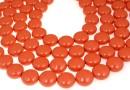 Perle Swarovski disc, coral pearl, 16mm - x2