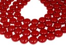 Perle Swarovski disc, red coral pearl, 16mm - x2
