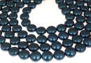 Perle Swarovski disc, petrol pearl, 12mm - x4