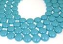 Perle Swarovski disc, turquoise pearl, 14mm - x4