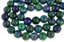 Natural azurite, round, 12mm