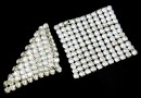 Swarovski Crystal mesh, moonlight, 2.9x2.9cm - x1