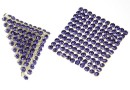 Swarovski Crystal mesh, tanzanite, 20x3.2cm - x1