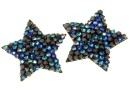Swarovski, pand. fine rocks, black bermuda blue, 22mm - x1