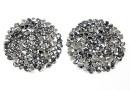 Swarovski, cabochon f. rocks, light chrome, 19.5mm - x1