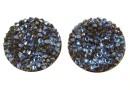 Swarovski, cabochon f. rocks, black moonlight, 19.5mm - x1