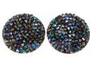 Swarovski, cabochon f. rocks, black paradise shine, 19.5mm - x1
