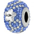 Swarovski, becharmed pave crystal daisy, 14.5mm - x1