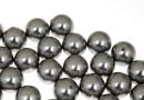 Perle Swarovski cu un orificiu, grey, 12mm - x2