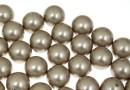 Perle Swarovski cu un orificiu, platinum, 6mm - x4