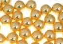 Perle Swarovski cu un orificiu, gold, 8mm - x2
