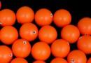 Perle Swarovski cu un orificiu, neon orange, 6mm - x4