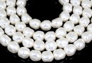 Margele Swarovski perle candy, white, 12mm - x2