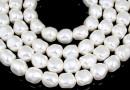 Margele Swarovski perle candy, white, 14mm - x2