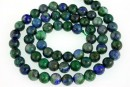 Natural azurite, round, 4.5mm