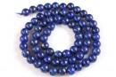 Lapis lazuli, round, A grade, 6.2mm