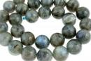 Labradorite, round, 6.5mm