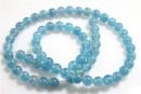 Blue angelite quartz, round, 10.3mm