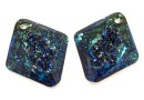 Swarovski, pandantiv growing rhombus, bermuda blue, 26mm - x1
