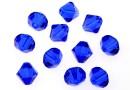 Swarovski, margele bicone, majestic blue, 3mm - x20