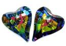 Swarovski, pandantiv inima Wild heart, vitrail medium, 27mm - x1