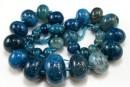 Agate, dragon vein blue sea, rondelle, 11-30mm