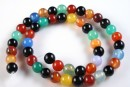 Multicolor agate, round, 4mm