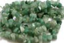Green aventurine, free form, 8-14mm - 87cm