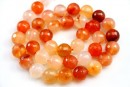 Carnelian, faceted round, 10mm