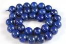 Lapis lazuli, round, 10.5mm