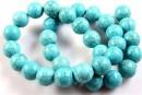 Turquoise magnesite, round, 12mm