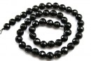 Onix, black, faceted round, 2.3mm