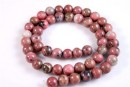 Rhodonite, round, 10mm