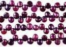 Perle de cultura - 7mm, spic, fucsia-mov metalizat