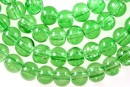 Margele sticla crackle, verde lime, 6.5mm - x140
