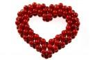 Pandantiv inima, coral rosu intens