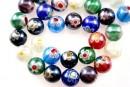 Margele chevron, rotund, multicolor cu irizatii AB, 12mm