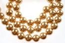 Perle Mallorca, rotund, auriu,  8mm